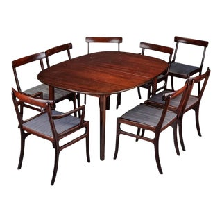 Rungstedlund dining table with eight chairs by Ole Wanscher for Poul Jeppesen - Set of 9