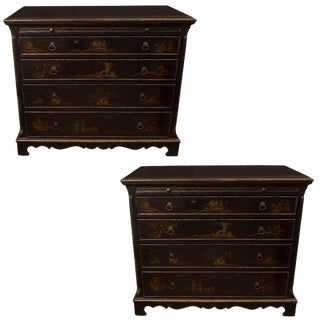 Pair of Chinoiserie Painted Chests