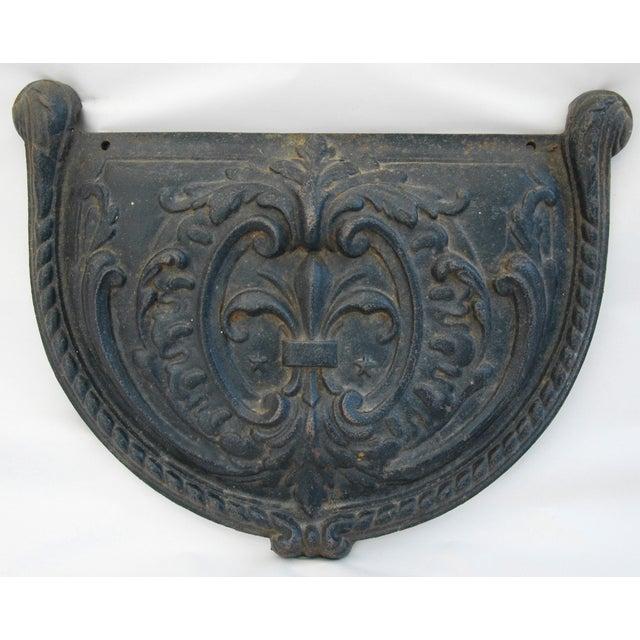 19th C. French Fleur-De-Lis Iron Relief Plaque - Image 4 of 8