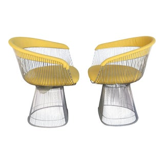 Warren Platner for Knoll Mid-Century Dining Chairs- a Pair For Sale