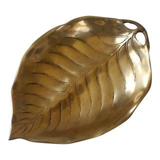 Mid-Century Brass Leaf Tray