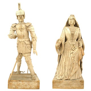 French 19th Century Duke & Duchess Figures - Set of 2 For Sale