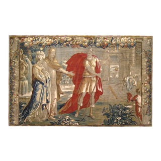 18th Century Antique Flemish Historical Tapestry For Sale
