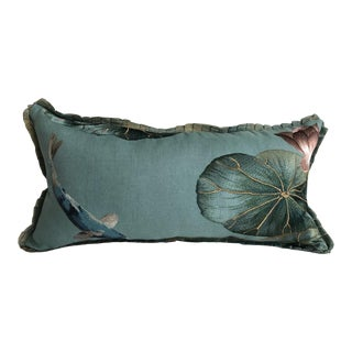 Embroidered Koi Pond Pillow For Sale