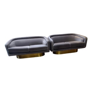 2019 Contemporary Jonathan Adler Bacharach Loveseats - Set of 2 For Sale