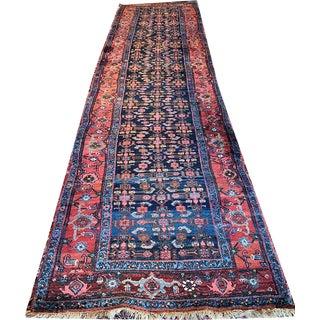 Antique Persian Bidjar Hallway Runner Rug - 3′4″ × 16′4″