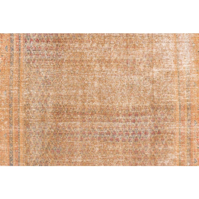"""1910s Traditional Apadana-Antique Persian Distressed Rug - 6'8"""" X 10'5"""" For Sale - Image 4 of 10"""