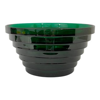 Post Modern Green Glass Bowl For Sale