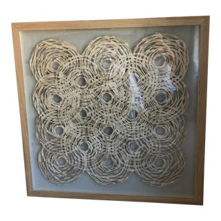 Textural Woven Wall Decor For Sale