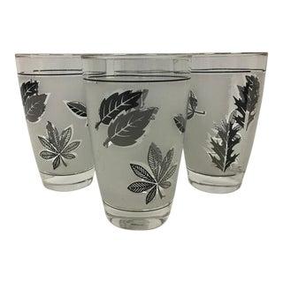 Mid-Century Libbey Silver Leaf Juice Glasses, Euc - Set of 4 For Sale