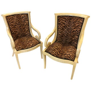 Enrique Garcel Bone Armchairs - A Pair For Sale