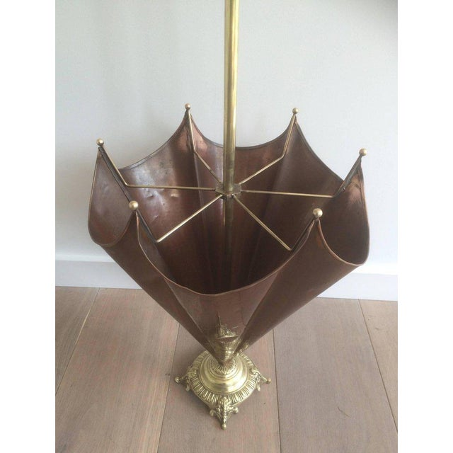 1940s, French Brass Umbrella Stand - Image 10 of 11