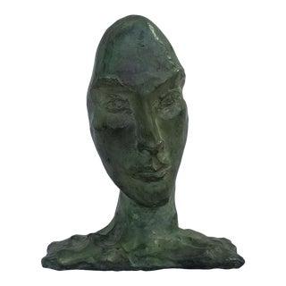 1960s Modigliani Inspired Female Bronze Sculpture For Sale