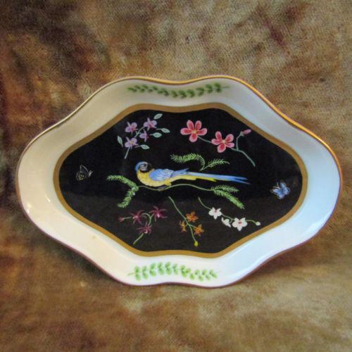 Lynn Chase Jaguar Jungle Porcelain Leaf Dish, 1988   Image 2 Of 4