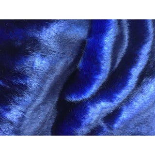 Casamance Misia Faux Fur in Royal Blue For Sale