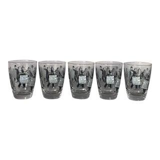 Vintage 1950s Libbey Cocktail Glassware - Set of 5 For Sale