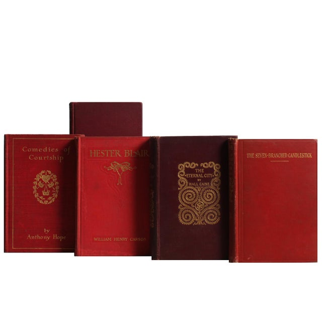 Antique Rust & Floral Set, S/20. Twenty antique volumes in blended shades of burgundy and rust. Various authors and...