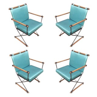 "Cleo Baldon Mid-Century ""Directors Chair"" Dining Chairs, Set of 4 For Sale"