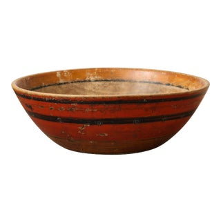 African Hand Hewn Wood Bowl For Sale