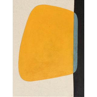 Original Eclipse Yellow Acrylic Painting For Sale