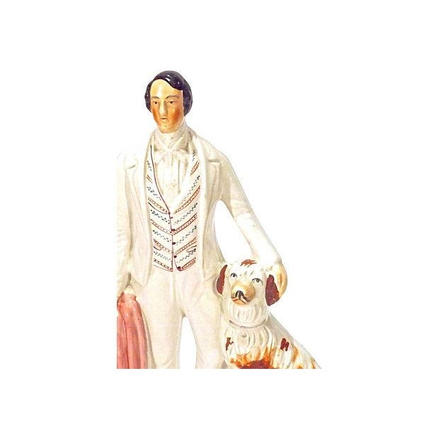 English Traditional Antique Staffordshire Prince of Wales Figurine For Sale - Image 3 of 4