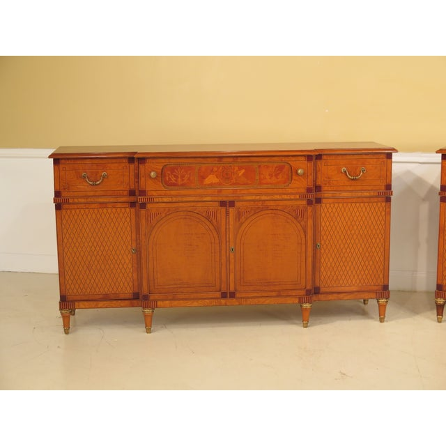 Italian Inlaid Walnut Sideboards - A Pair - Image 3 of 11
