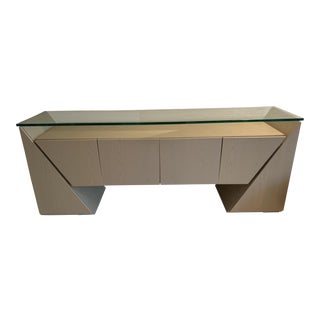 Buffet/Sideboard With Glass Top For Sale