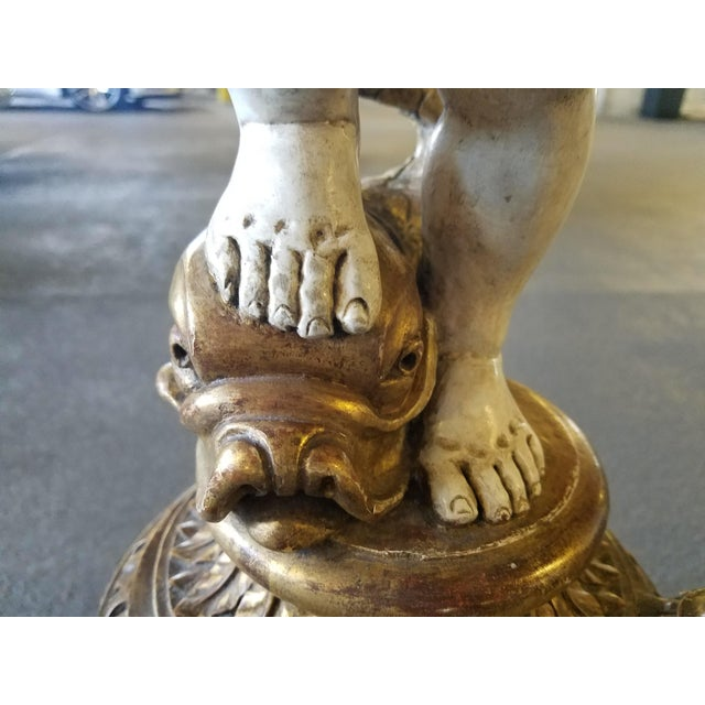 Italian Hand Carved Putti Pedestal For Sale - Image 10 of 12