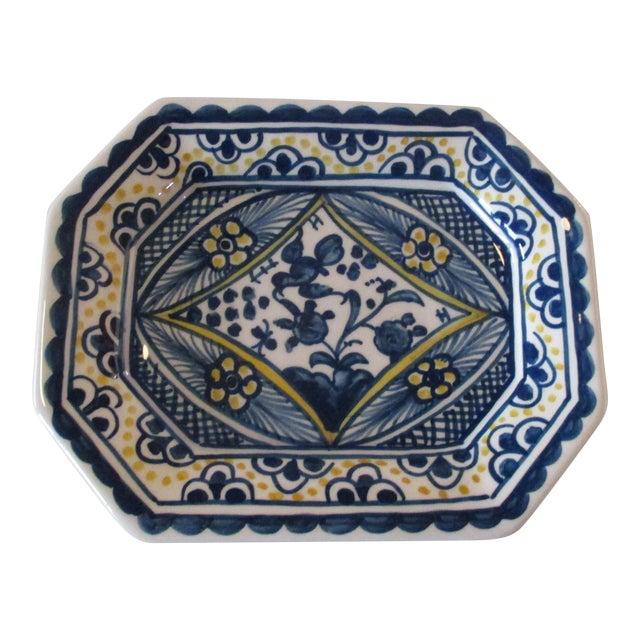Vintage Porcelain Portuguese Trinket Dish For Sale