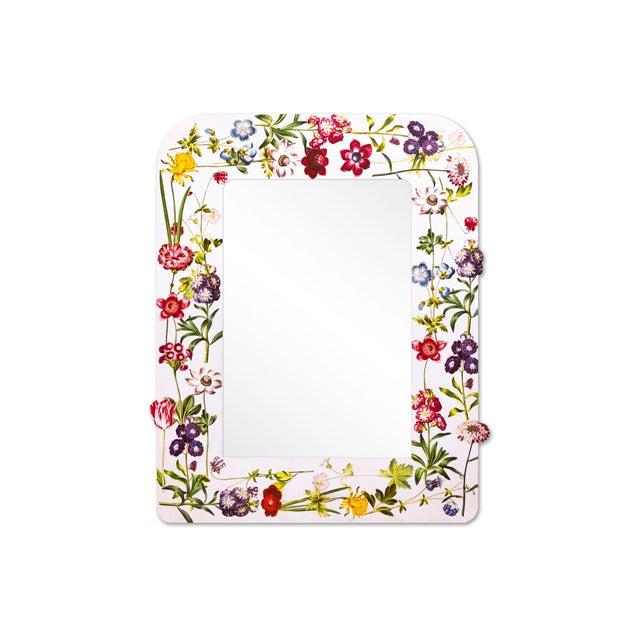 Fleur Home x Chairish Liz Marsh Floral Sprinkle Mirror For Sale - Image 4 of 4