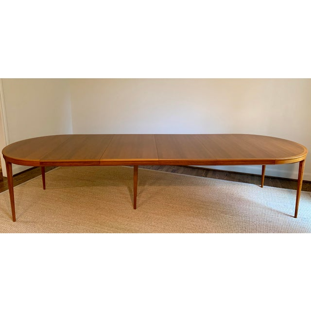Vintage Swedish Walnut Dining Table by B. Fridhagen for Bodafors For Sale - Image 12 of 13