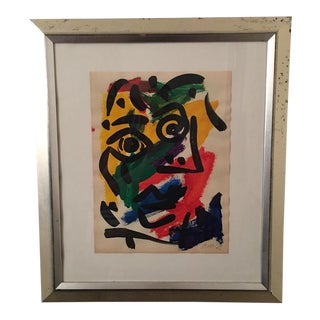 Mid-Century Abstract Cubist Painting by Peter Keil For Sale