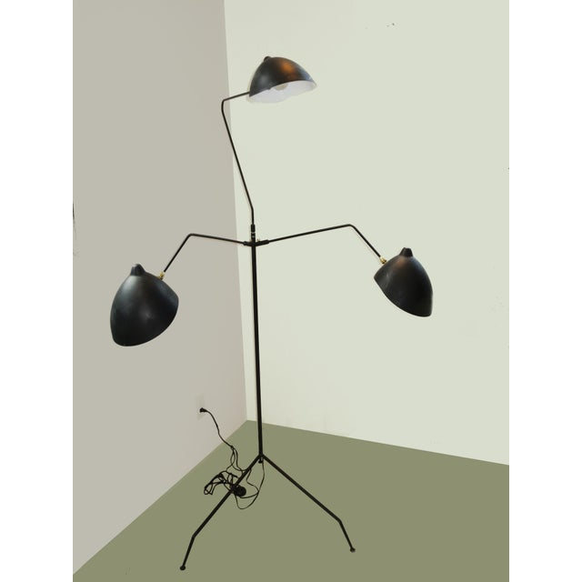 2000 - 2009 Standing Three-Arm Lamp by Serge Mouille For Sale - Image 5 of 8