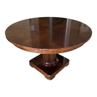 Ralph Lauren 5 Round Pedestal Table For Sale