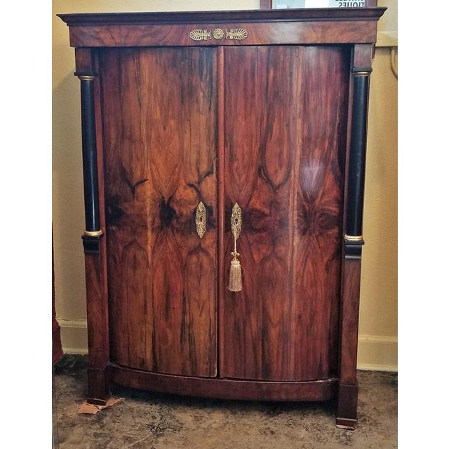 Early 19th Century French Empire Armoire Wine Cabinet For Sale - Image 4 of 8