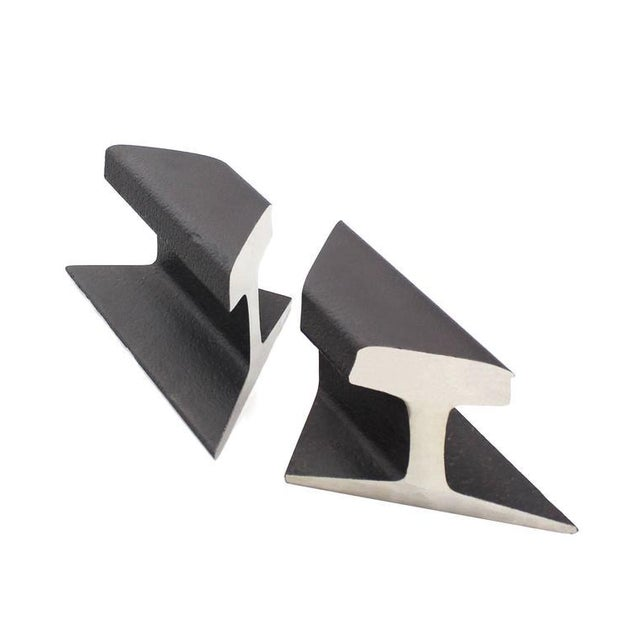 Black Pair of Rail Road Sections Bookends For Sale - Image 8 of 9