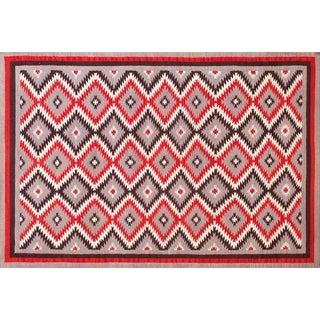 Geometric Navajo Style Rug - 6′ × 9′ For Sale