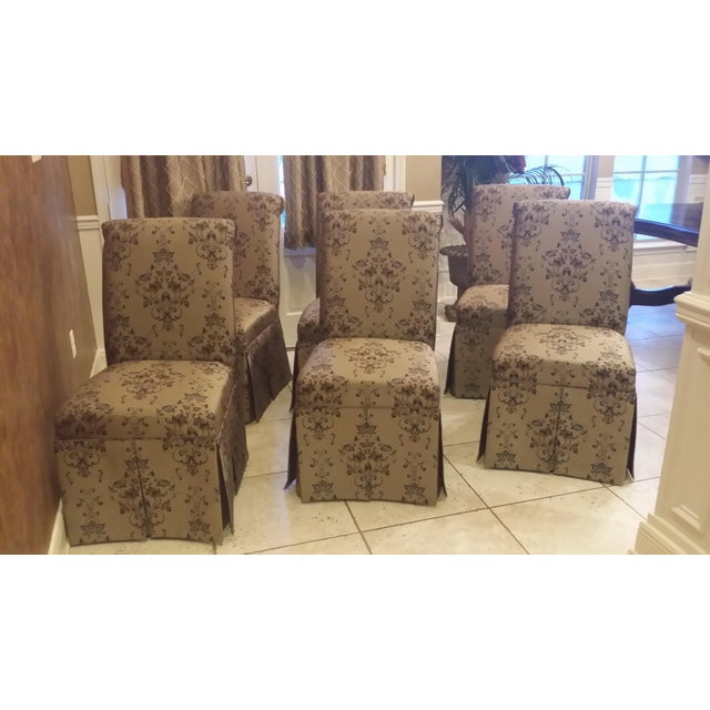 Skirted Parsons Chairs - Set of 6 - Image 8 of 8