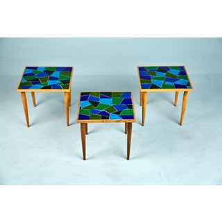 1960 Georges Briard Mosaic Top Side Tables - Set of 3 Preview