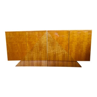 1980s Giorgio Roche Bobois Credenza / Media Cabinet - 2 Pieces For Sale