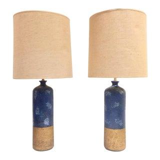 1960s Italian Aldo Bitossi Ceramic Lamps - a Pair