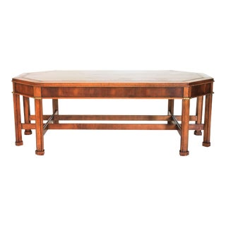 Asian Inspired Wood Coffee Table by Gordon's Furniture For Sale