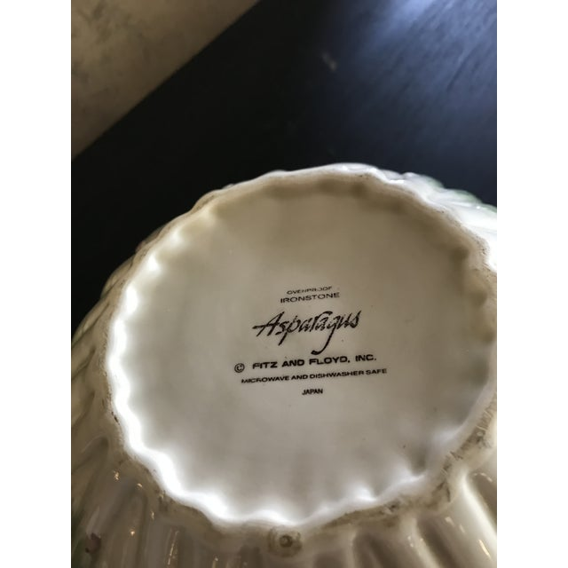 Fitz and Floyd Contemporary Fitz and Floyd Asparagus Ironstone Serving Bowl For Sale - Image 4 of 5