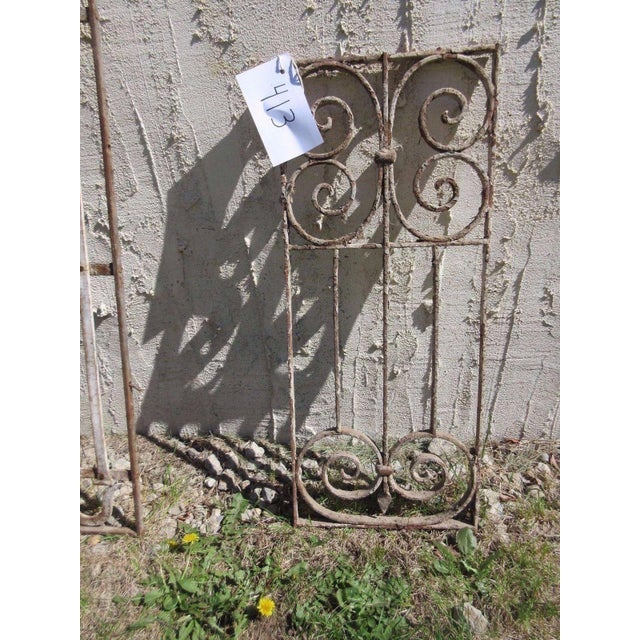 Antique Victorian Iron Gate Architectural Element For Sale - Image 5 of 6