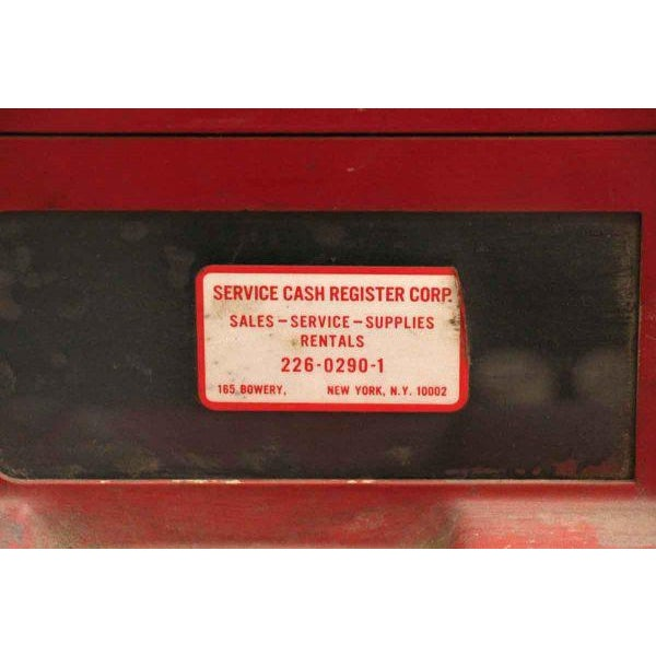 Red NCR Cash Register For Sale - Image 4 of 8