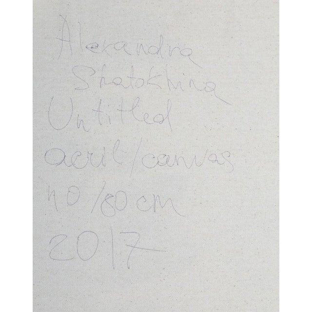 Aleksandra Shatokhina, Russian (1986 - ) Title: Untitled Year: 2017 Medium: Acrylic on Canvas, signed and dated verso...