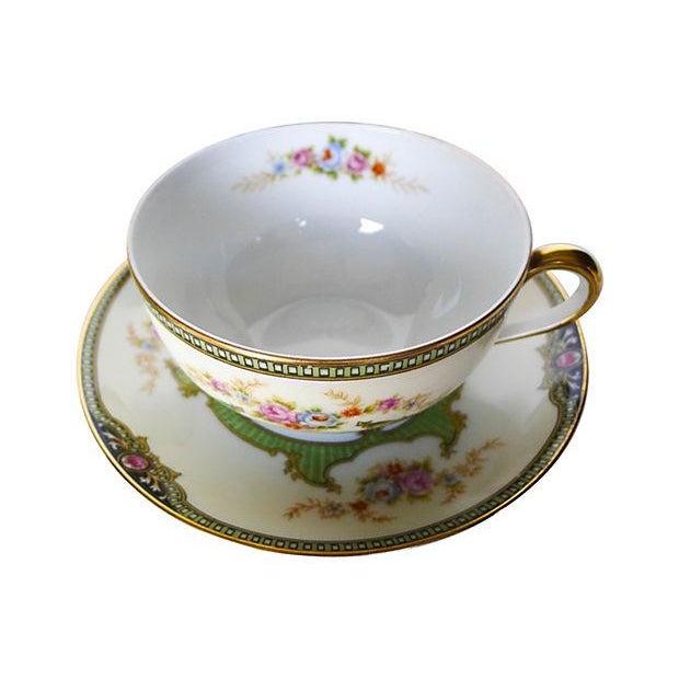 Vintage Floral Tea Cups & Saucers - Set of 6 - Image 4 of 6