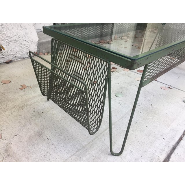 Unique Iron & Glass Mid-Century Modern Outdoor Indoor Patio Coffee Table For Sale - Image 4 of 12