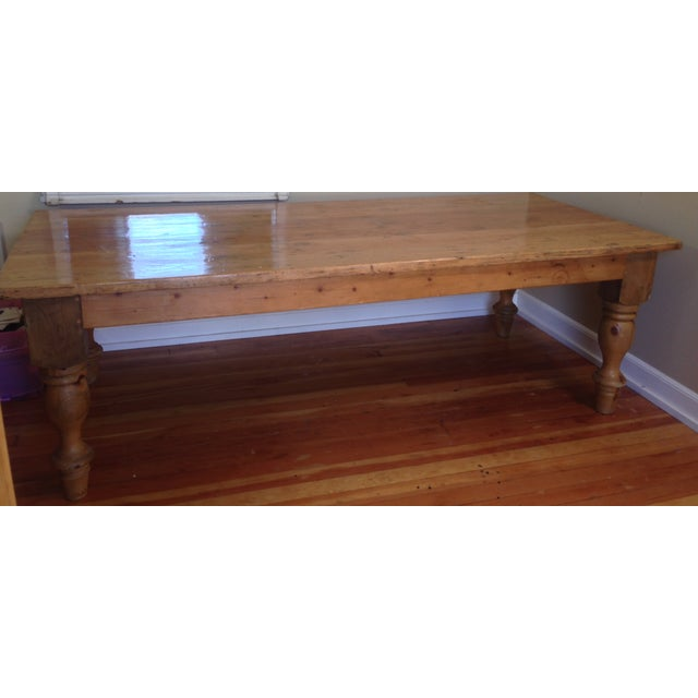 Large Reclaimed Wood Farm Table - Image 7 of 8