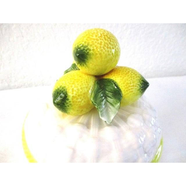 Cottage 1980s Vintage Ceramic Lemon Canister For Sale - Image 3 of 6